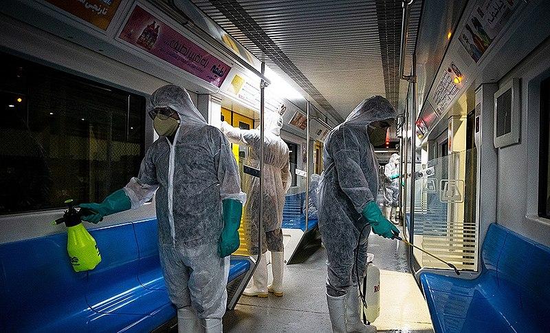 Tehran mass transit subway affected by coronavirus lockdown